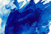 Ultramarine watercolor texture background