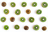 Kiwi sliced pattern. Fresh and ripe kiwi slices. Healthy food. Healthy fruits