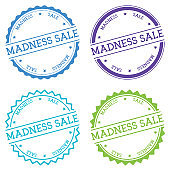 Madness sale badge isolated on white background.