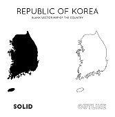 South Korea map.