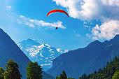 Paraglider in Interlaken, Switzerland