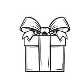 Gift icon, outline vector