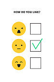 Survey poll or questionnaire for customer satisfaction research or user experience