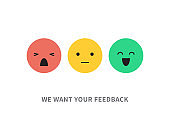 Satisfaction customer concept vector illustration isolated on white