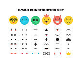 Emoji yellow smiley face character for scenes template