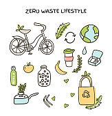 Big vector set of zero waste elements