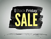 Black Friday sale advertisement vector label template