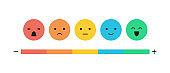 Feedback concept emoticon flat design icon set
