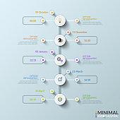 Modern infographic design template