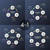 Unusual infographic design templates