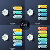 Modern infographic design templates