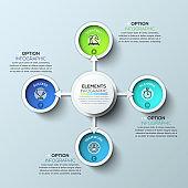 Arrow circle infographics template.