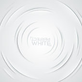Square background with ripple effect. Circular cuts on white paper
