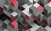 Abstract 3D Render of Modern Background