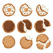 Tasty cookies vector design illustration isolated on white background