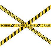 Crime scene do not cross vector design illustration isolated on white background