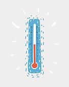 Temperature vector icon.