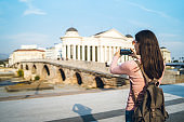Photographing in Skopje