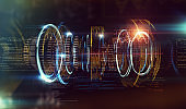 Technology and engineering abstract background.3d illustration