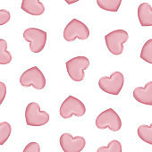 pink hearts seamless pattern for valentines day, 14th February, romantic love day Celebration paper cut design vector illustration