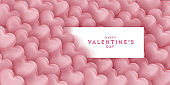 valentines day, 14th February, love day, 3d rose gold hearts blur efect design romantic love day Celebration card vector illustration