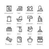 Housework Icon Set