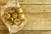 Roasted potatoes with dill