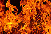 Blazing fire flame background and abstract