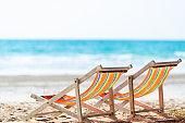 Closeup chair at the beach