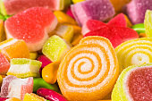 Various colorful sugary candy