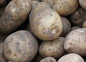 raw potatoes with peel