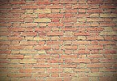 background of wall made with red bricks