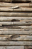 wooden planks of a wall