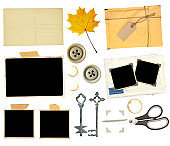 Collection of elements for scrapbooking