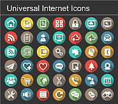 Universal internet icon set. Business and Office icon