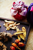 Chinese herbal medicine with Korean wrapping bag