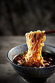 Instant soba noodle
