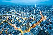 city skyline night view of Ikebukuro in tokyo