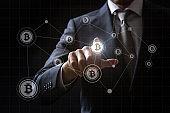 Concept of Bitcoin mining