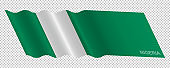 Vector flag of Nigeria waving background