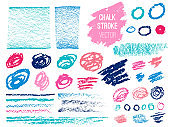 Set stroke spot blod. Brush, pen, marker, chalk. Vector distressed grunge modern textured brush stroke, doodle, doodles, scribbled, chalkboard. Dry brush. Hand drawn vector.