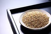 Sesame on a plate