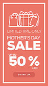 Social Media Stories Page Sale Banner Background - MOTHER'S DAY SALE