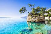 Beautiful bay in the Mediterranean sea, Brela, Croatia