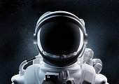 Close Up Of An Astronaut Helmet