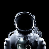 Futuristic Astronaut Space Suit Portrait