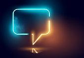 Glowing Neon Speech Bubble Light