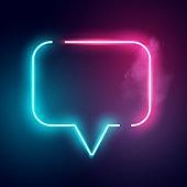 Electric Neon Speech Bubble Sign