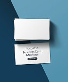 Stack Of Business Cards Mockup Layout