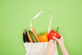 Vegetables in bag